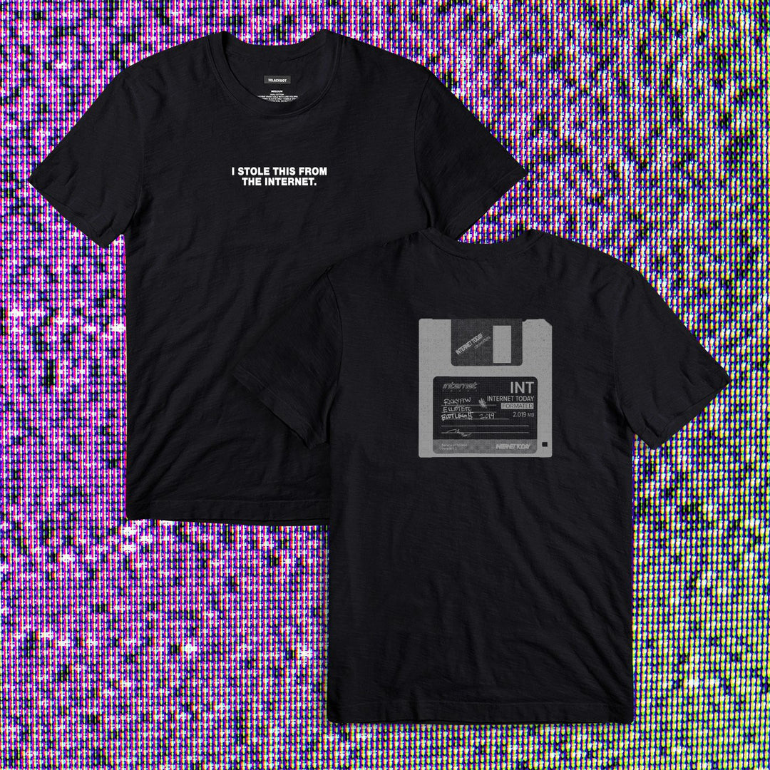 INTERNET TODAY® | FLOPPY DISC TEE (BLACK) LIMITED EDITION