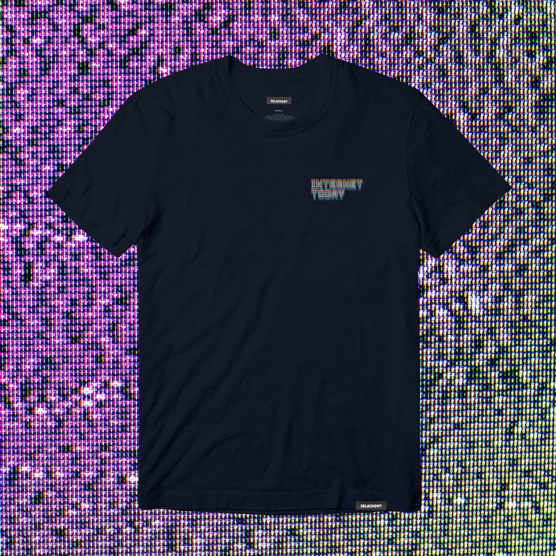 INTERNET TODAY® | GLITCH TEE (NAVY) LIMITED EDITION