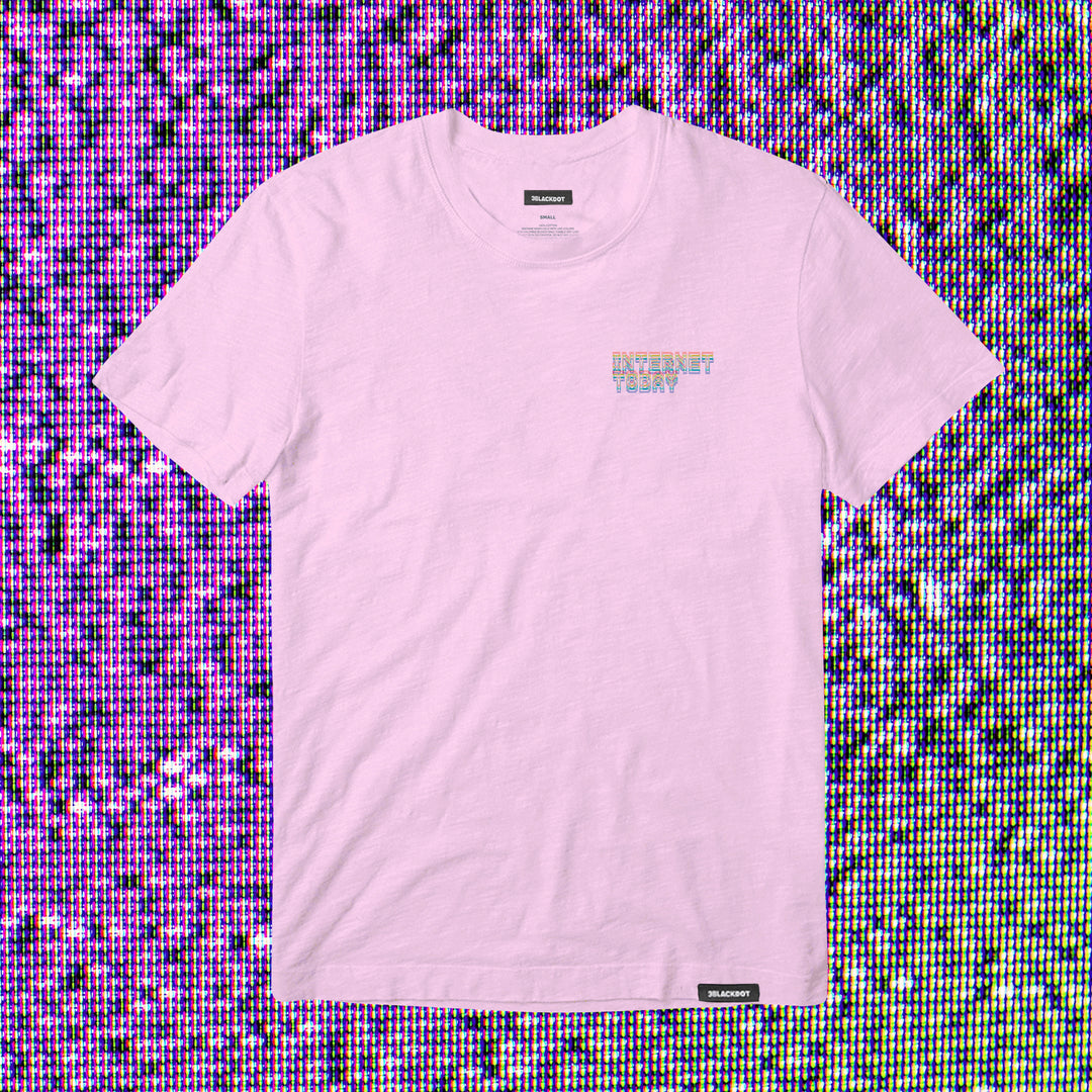 INTERNET TODAY® | GLITCH TEE (PINK) LIMITED EDITION