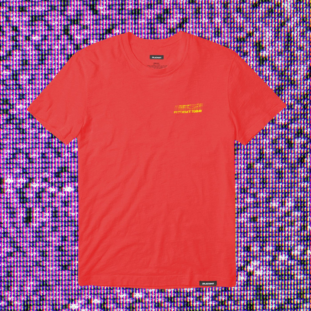 INTERNET TODAY® | GLITCH TEE (RED) LIMITED EDITION