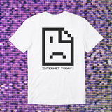 INTERNET TODAY® | SAD FACE POCKET TEE (WHITE) LIMITED EDITION