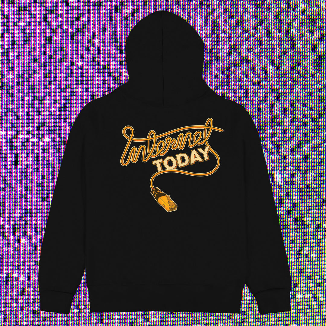 INTERNET TODAY® | ETHERNET ZIP-UP HOODIE (BLACK) LIMITED EDITION
