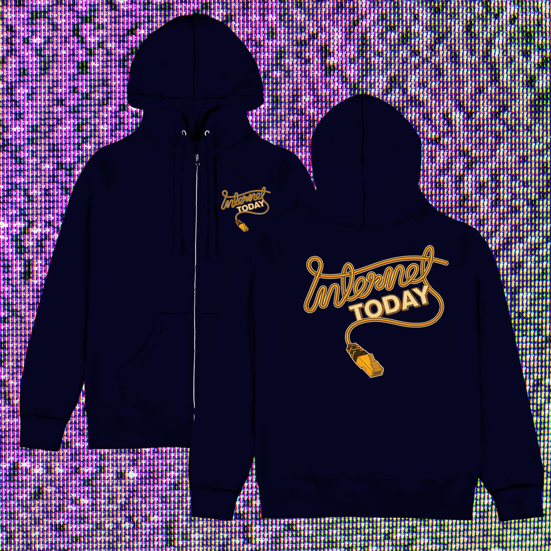 INTERNET TODAY® | ETHERNET ZIP-UP HOODIE (NAVY) LIMITED EDITION