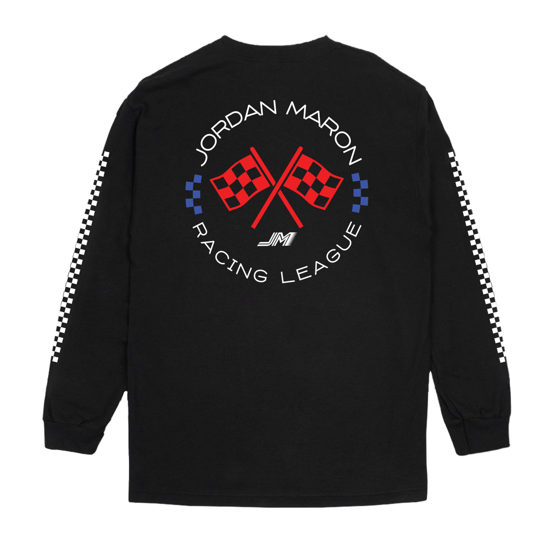 JORDAN MARON® | RACING TEAM LONG-SLEEVE TEE (BLACK)
