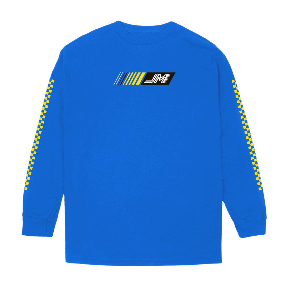 JORDAN MARON® | RACING TEAM LONG-SLEEVE TEE (BLUE)