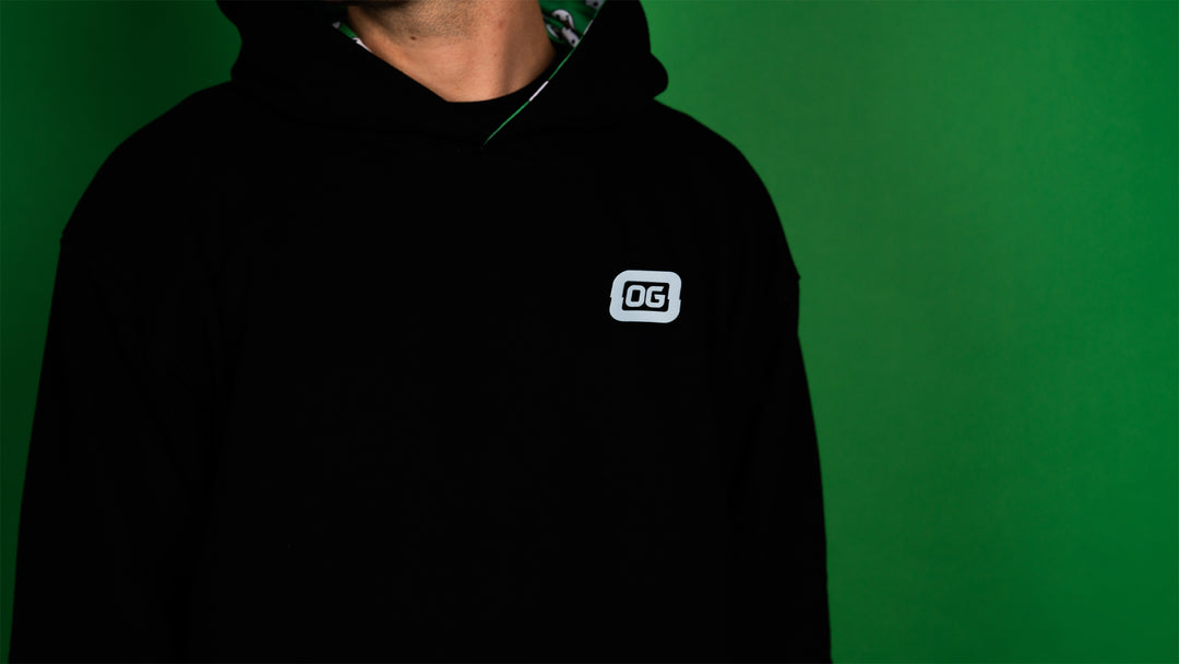JoshOG® | REVERSIBLE quackSmile HOODIE (BLACK / GREEN) LIMITED EDITION