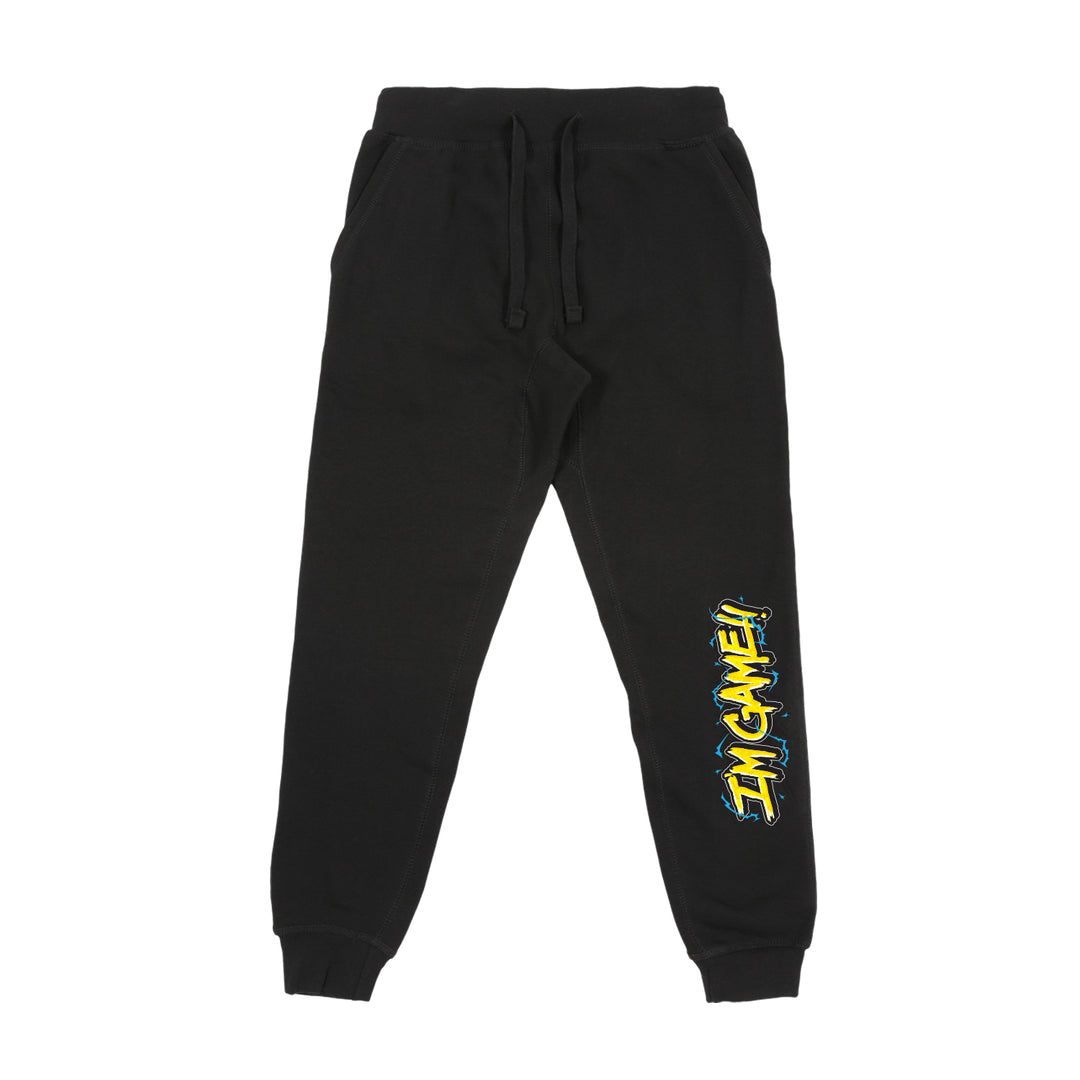 KAGGY® | I'M GAME! SWEATPANTS (BLACK) LIMITED EDITION