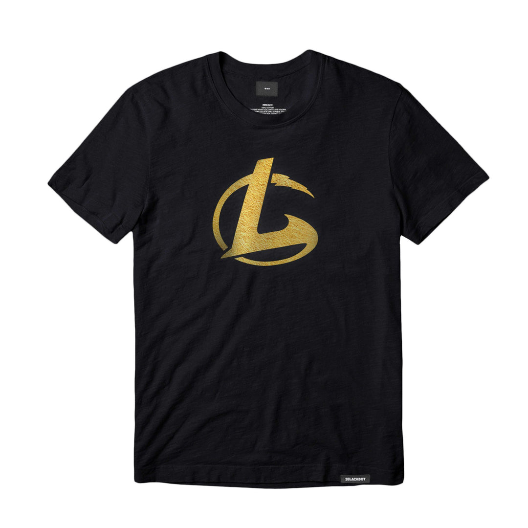 LEGEND OF GAMER® | GOLD EDITION LOGO TEE (BLACK) LIMITED EDITION
