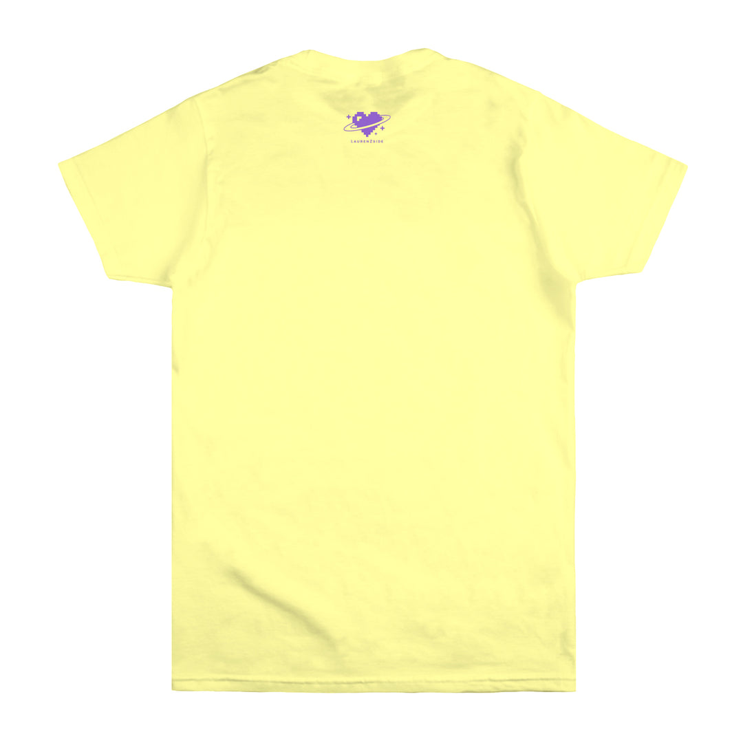 LAUREN Z SIDE® | KAWAII PUFF PRINT TEE (YELLOW)