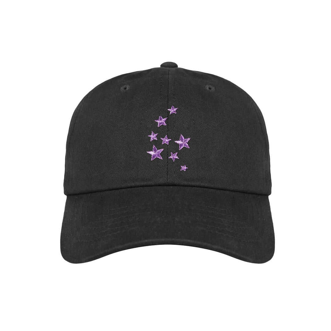 Lauren Z Side™  Purple Stars Dad Hat (Black)
