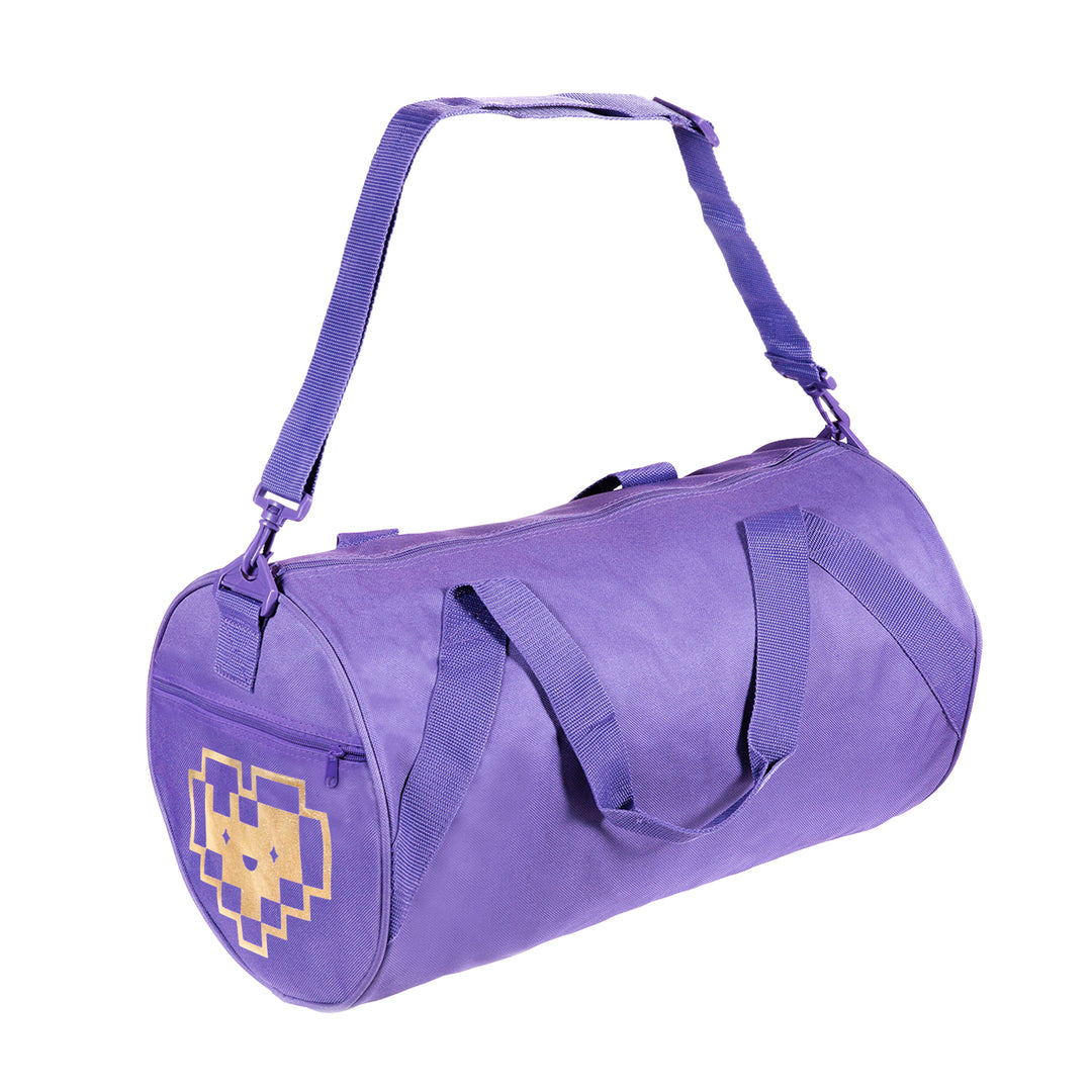 LAUREN Z SIDE® | GOLD FOIL DIGI GYM BAG (PURPLE) LIMITED EDITION