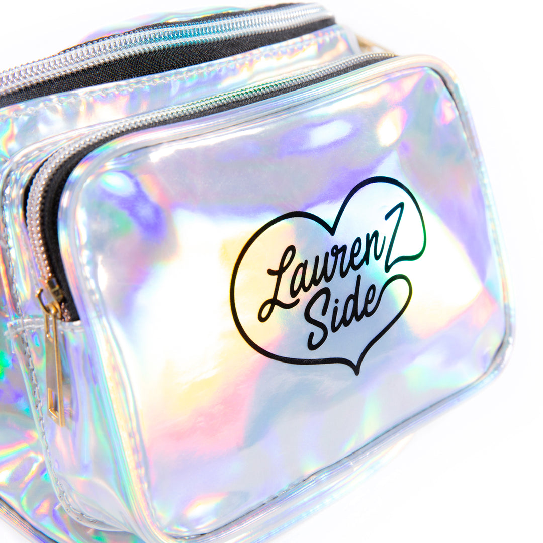 LAUREN Z SIDE® | HOLOGRAPHIC FANNY PACK (SILVER)