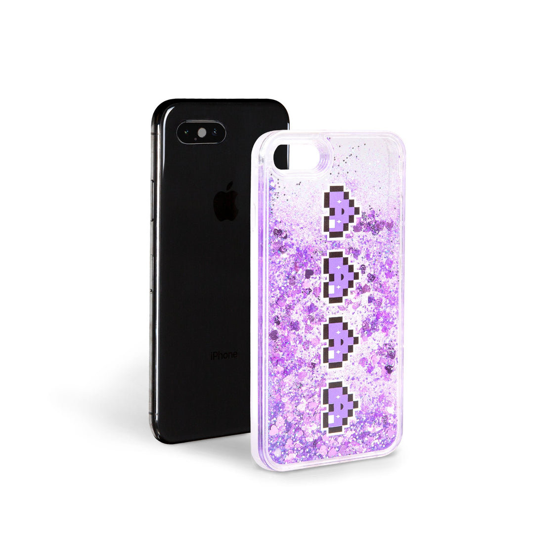 Lauren Z Side™ DigiHeart Liquid Glitter iPhone Case