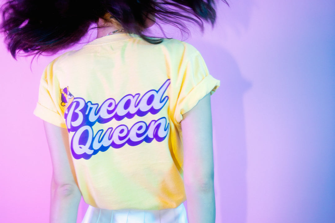 LAUREN Z SIDE® | BREAD QUEEN PIGMENT DYED POCKET TEE (BLONDE) LIMITED EDITION