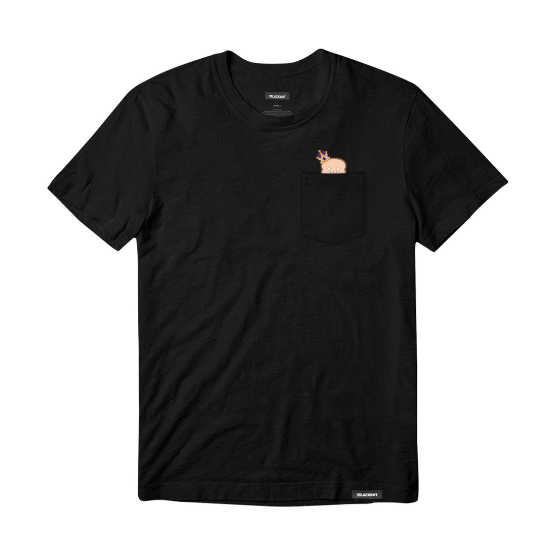 LAUREN Z SIDE® | BREAD QUEEN POCKET TEE (BLACK)