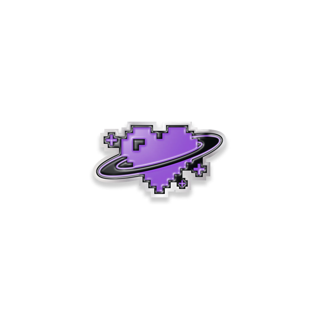 LAUREN Z SIDE® | DIGI HEART LAPEL PIN