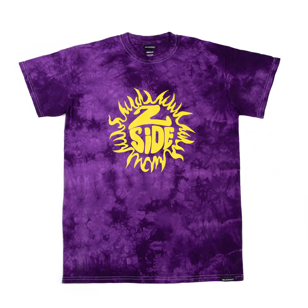 LAUREN Z SIDE® | PUFF SUNRAYS CRYSTAL TIE DYE TEE (PURPLE) LIMITED EDITION
