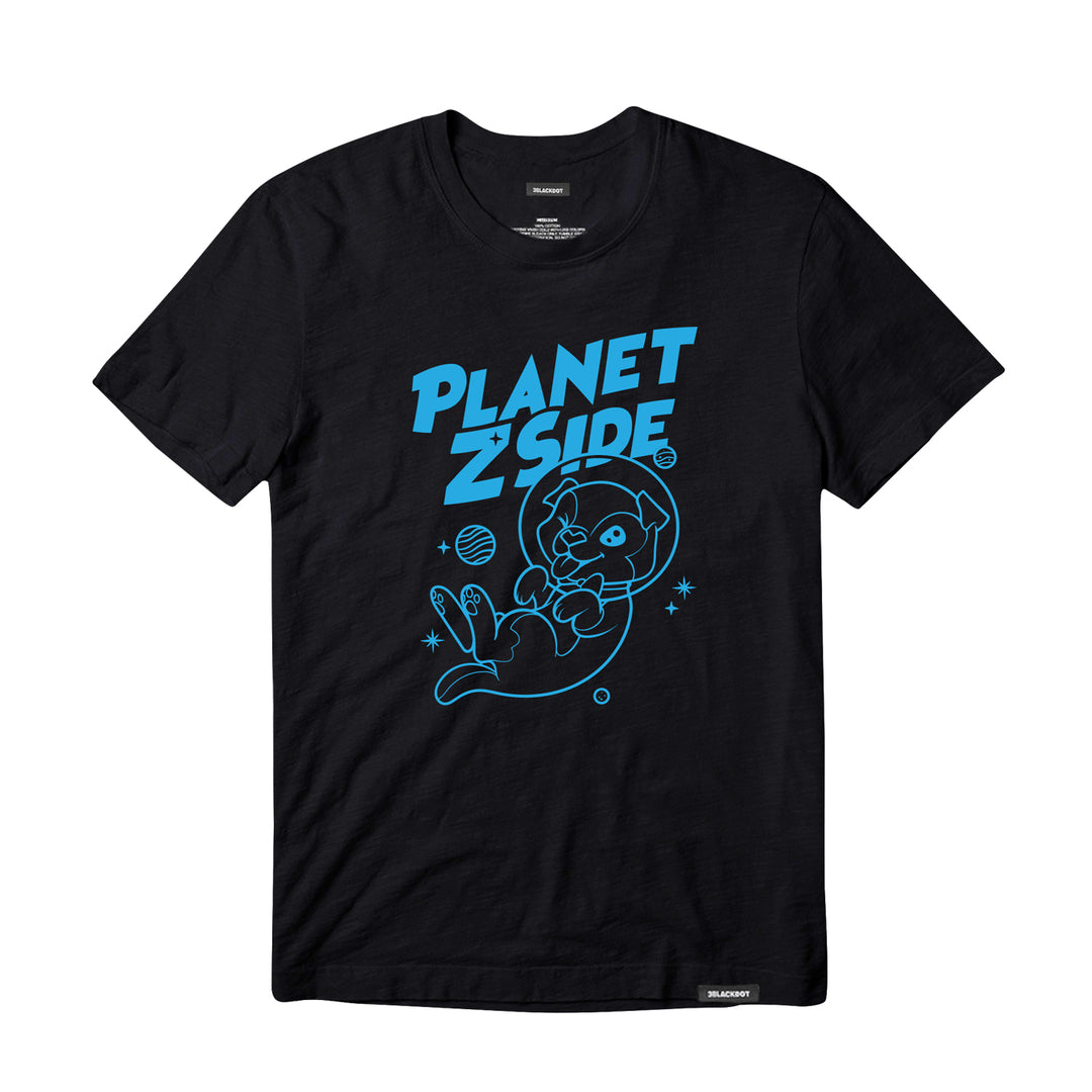 LAUREN Z SIDE® | PLANET Z SIDE TEE (BLACK)