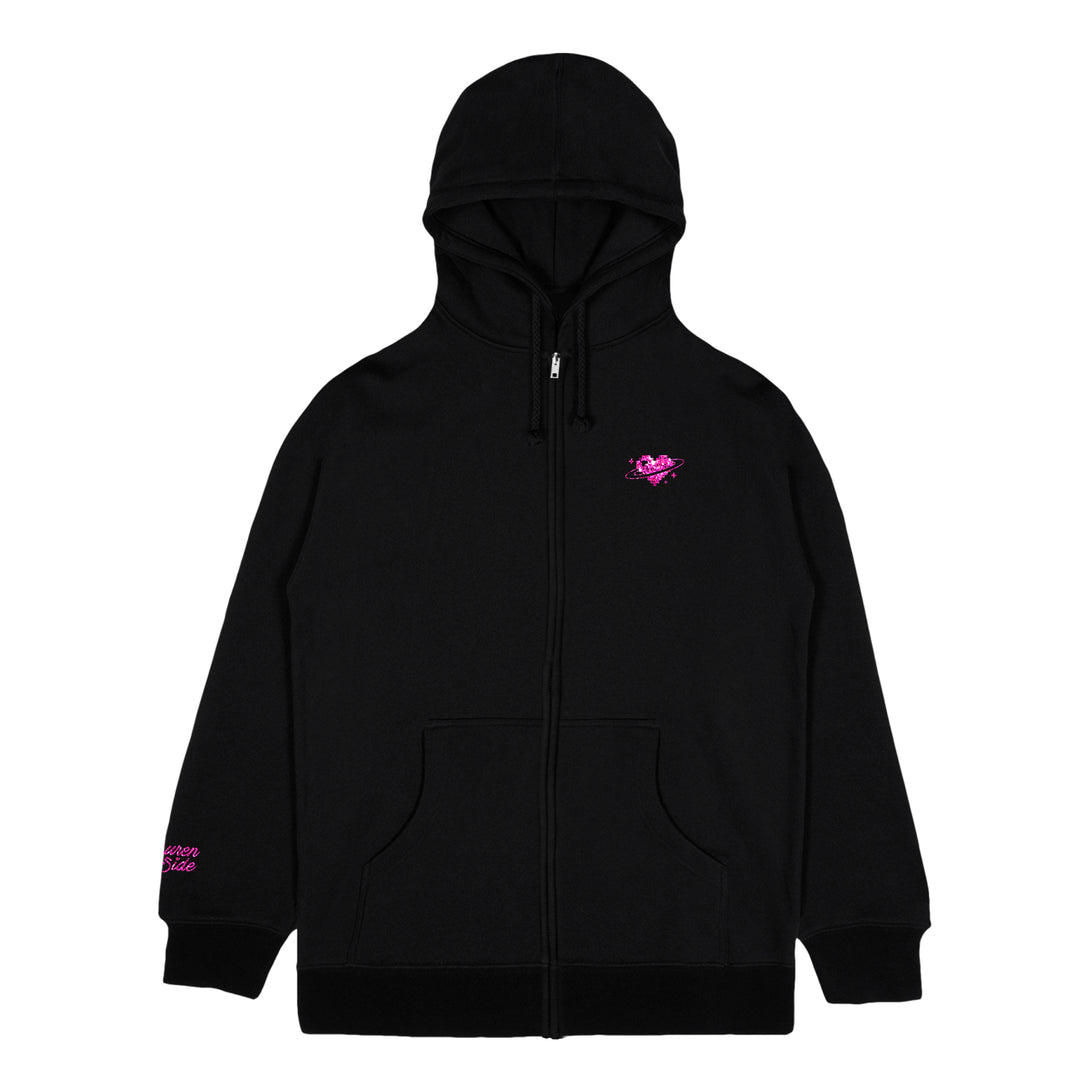 LAUREN Z SIDE® | GLITTER DEXTER CONSTELLATION ZIP-UP HOODIE (BLACK) LIMITED EDITION