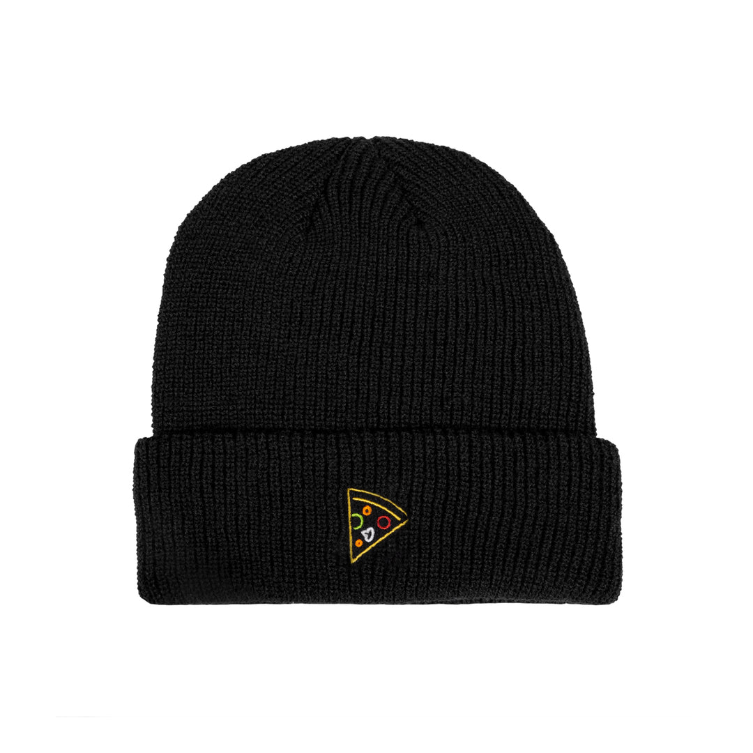 MISSES MAE® | NEON PIZZA BEANIE (BLACK)