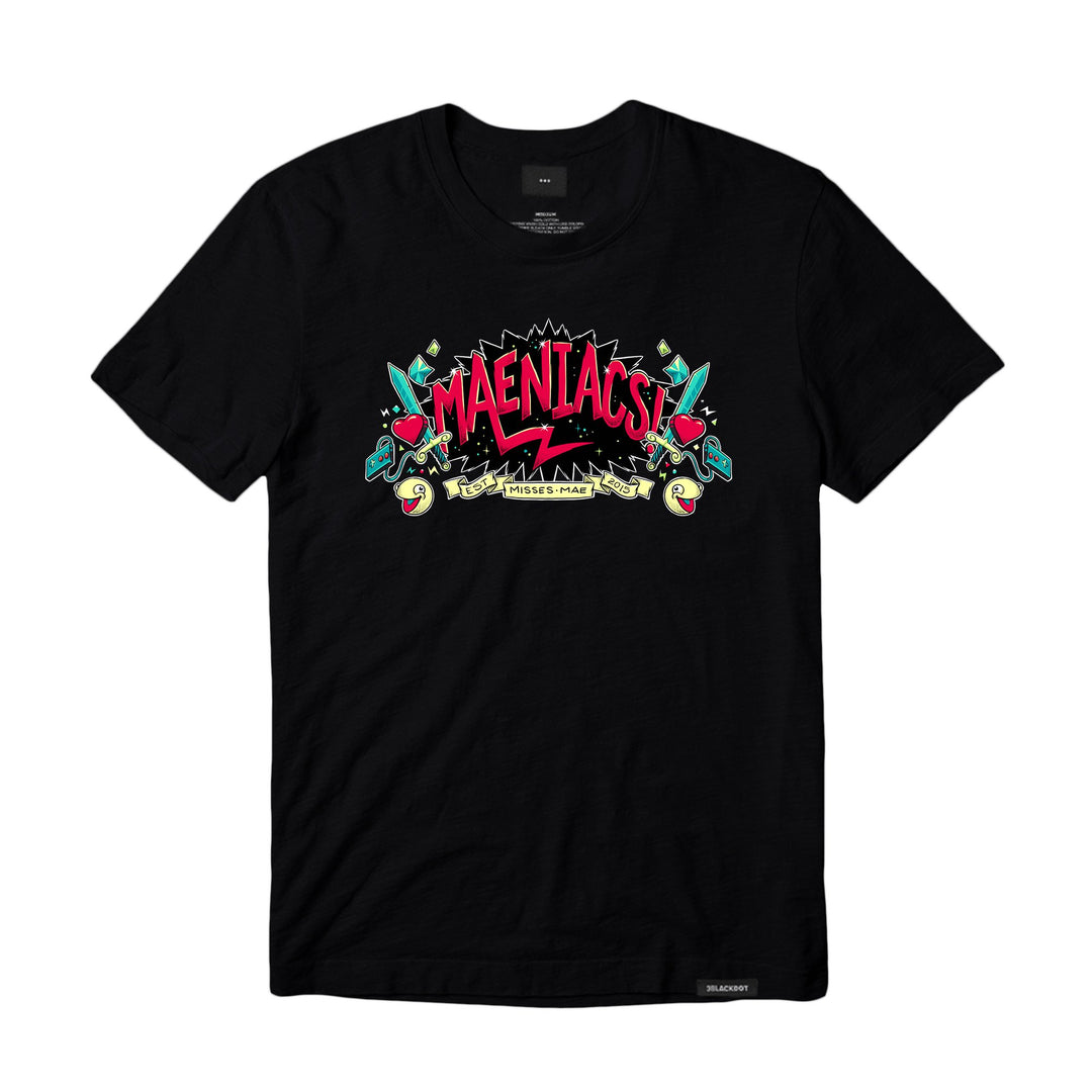 Misses Mae Maeniacs! MENS T-Shirt Black