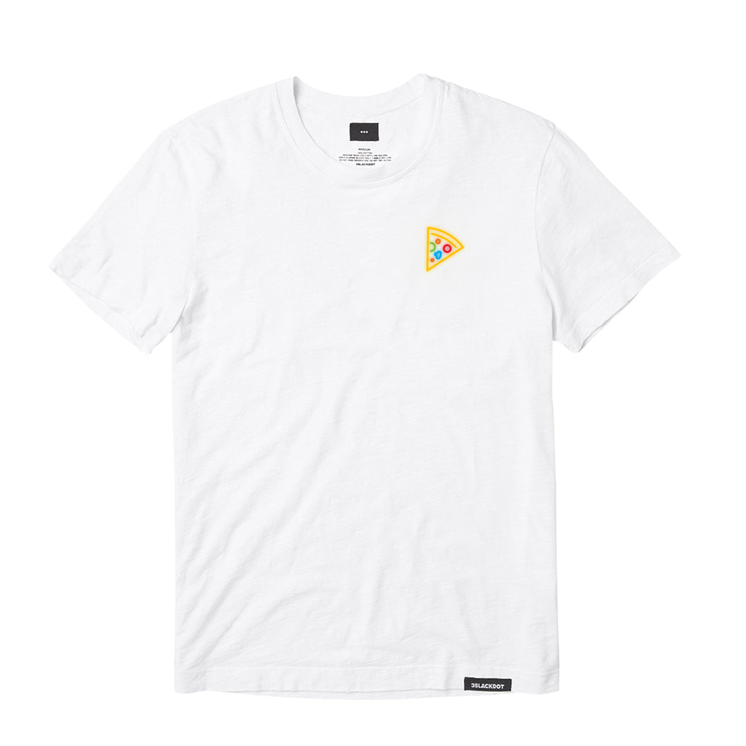 MISSES MAE® | NEON PIZZA TEE (WHITE)