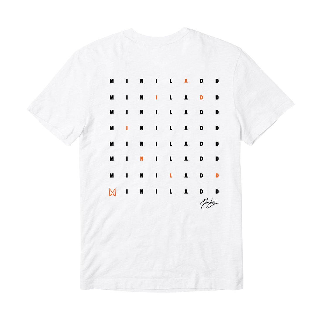 MINI LADD® | CROSSWORD TEE (WHITE)