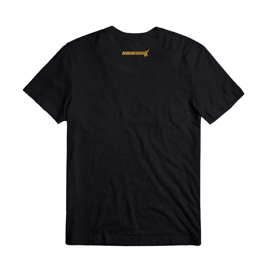 NANOGENIX® | METALLIC GOLD KANJI TEE (BLACK) LIMITED EDITION