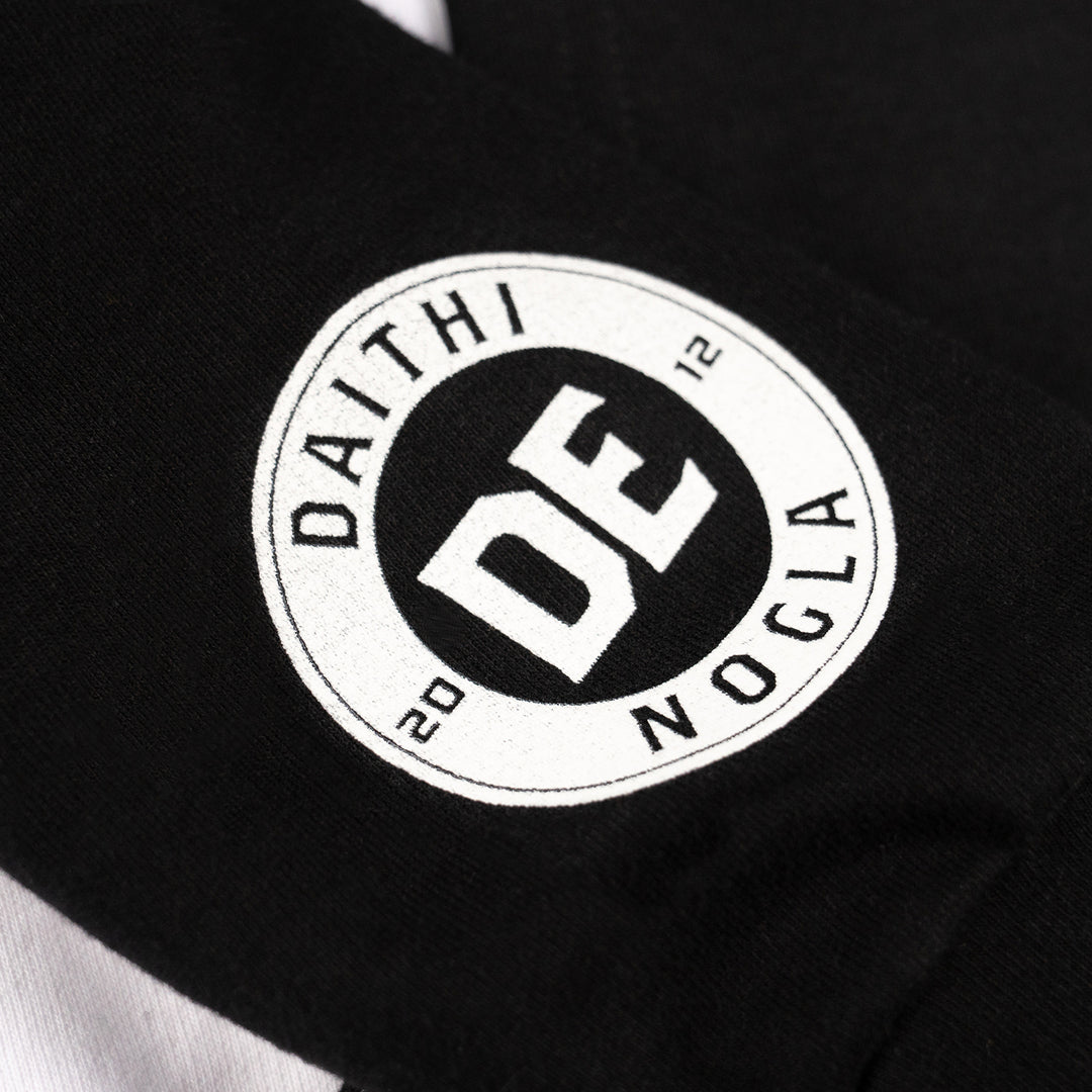 DAITHI DE NOGLA® | COLOR BLOCK HOODIE (BLACK / WHITE)