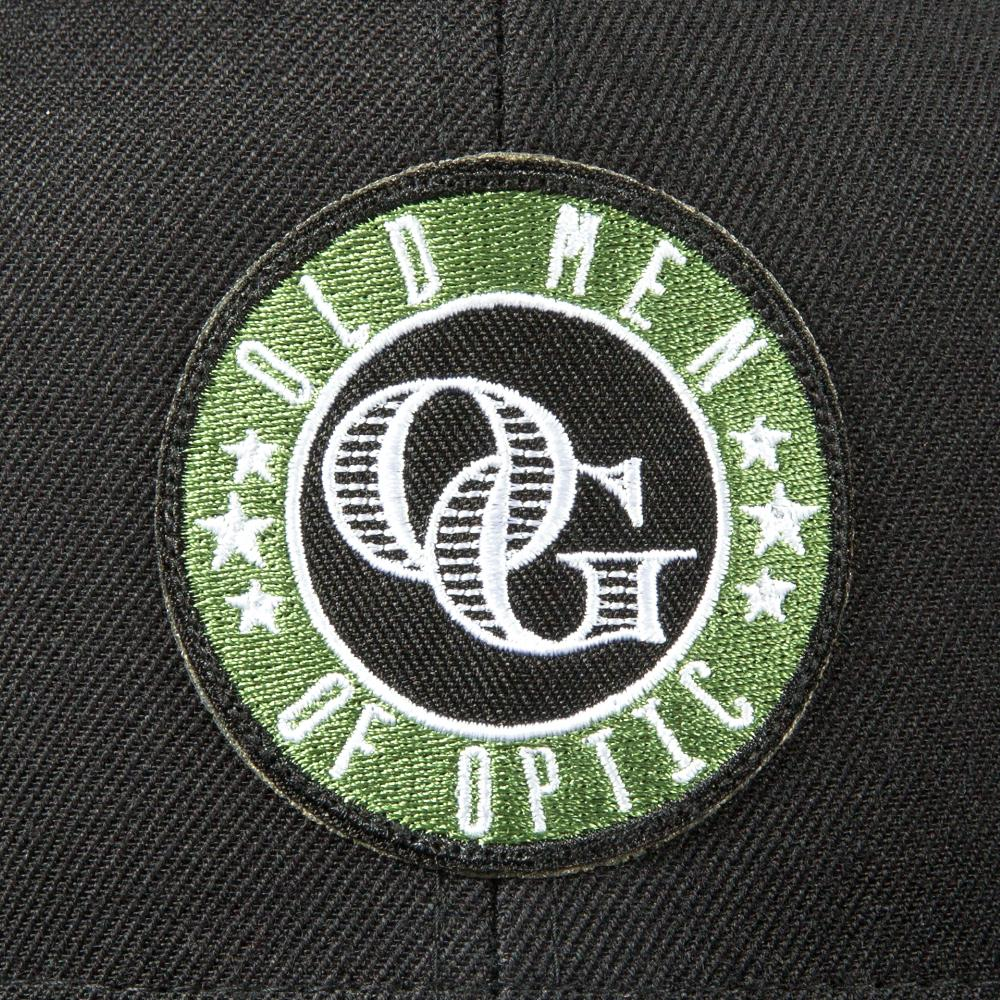 OLD MEN OF OPTIC® OG LOGO SNAPBACK HAT (BLACK)