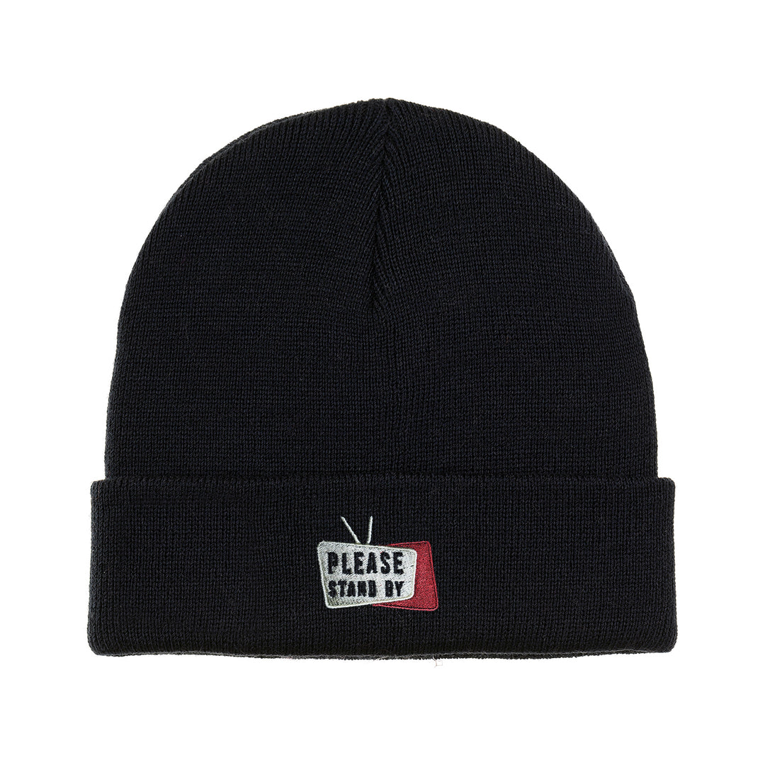 PLEASE STAND BY® | LOGO BEANIE (BLACK)
