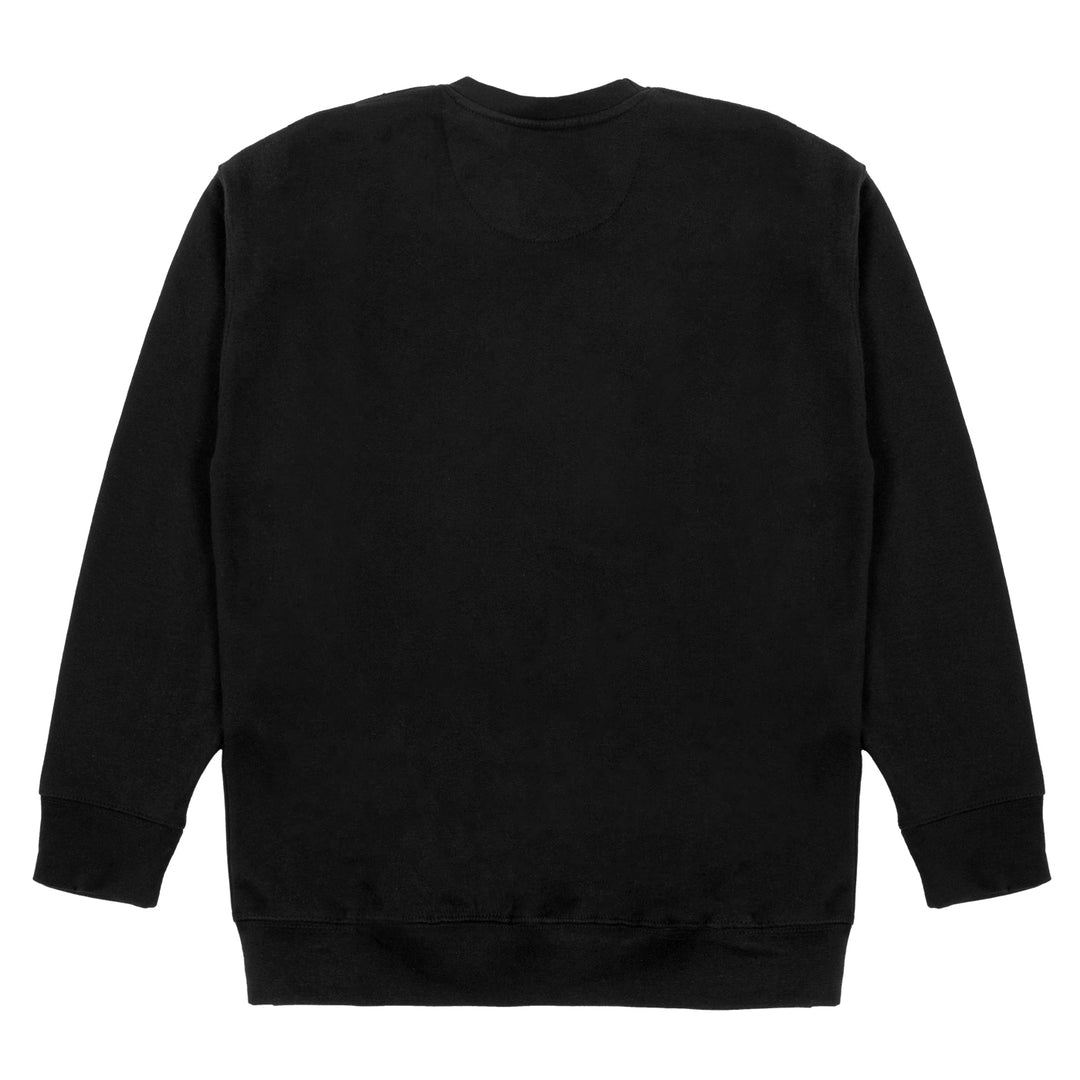 PLEASE STAND BY® | LOGO CREWNECK SWEATER (BLACK)