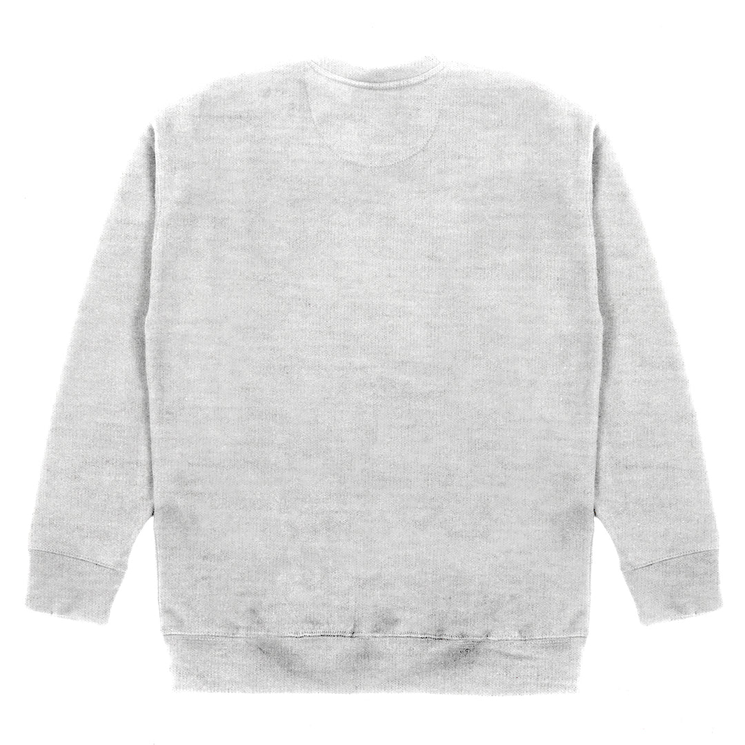 PLEASE STAND BY® | LOGO CREWNECK SWEATER (HEATHER GREY)