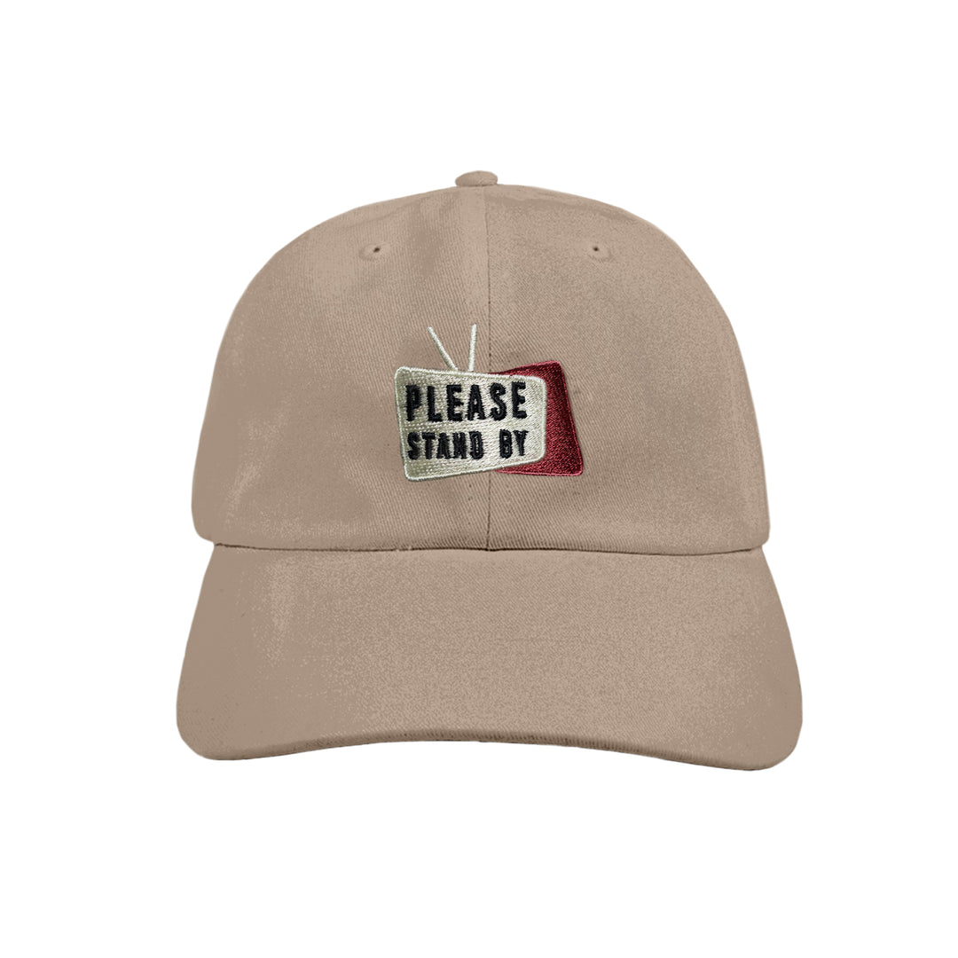 PLEASE STAND BY® | LOGO DAD HAT (KHAKI)