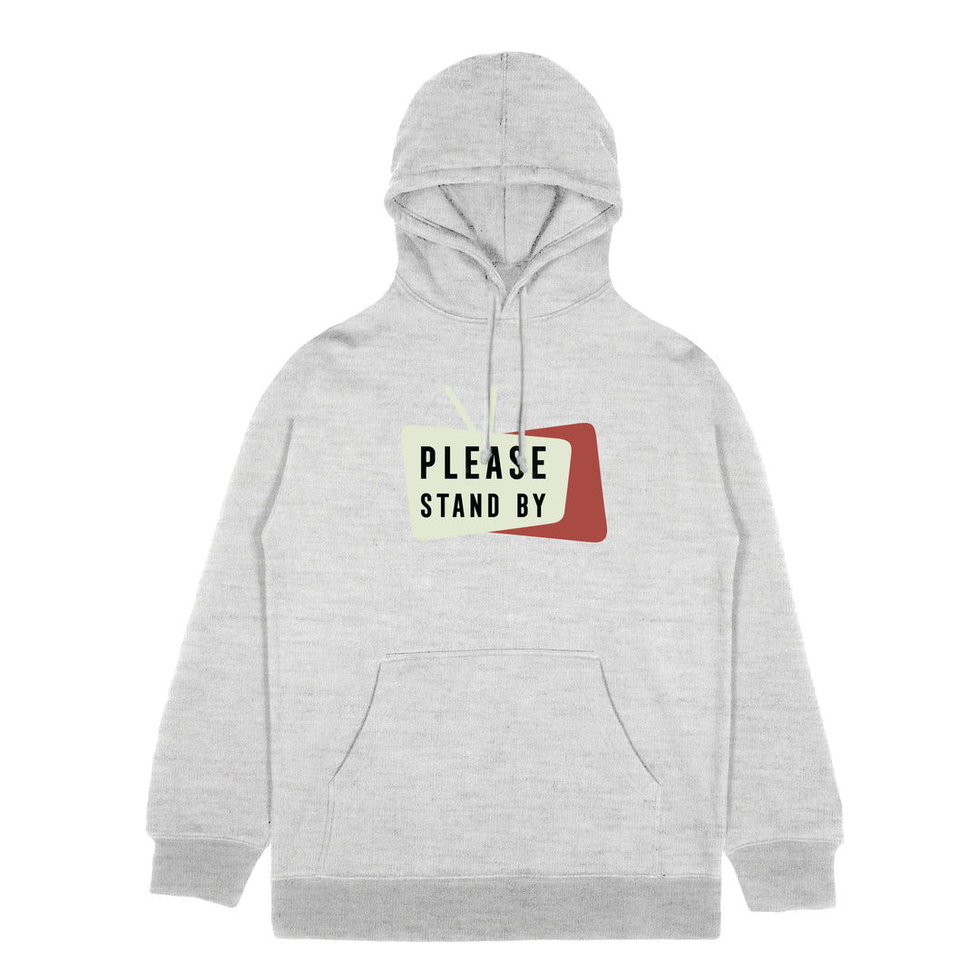 PLEASE STAND BY® | LOGO HOODIE (HEATHER GREY)