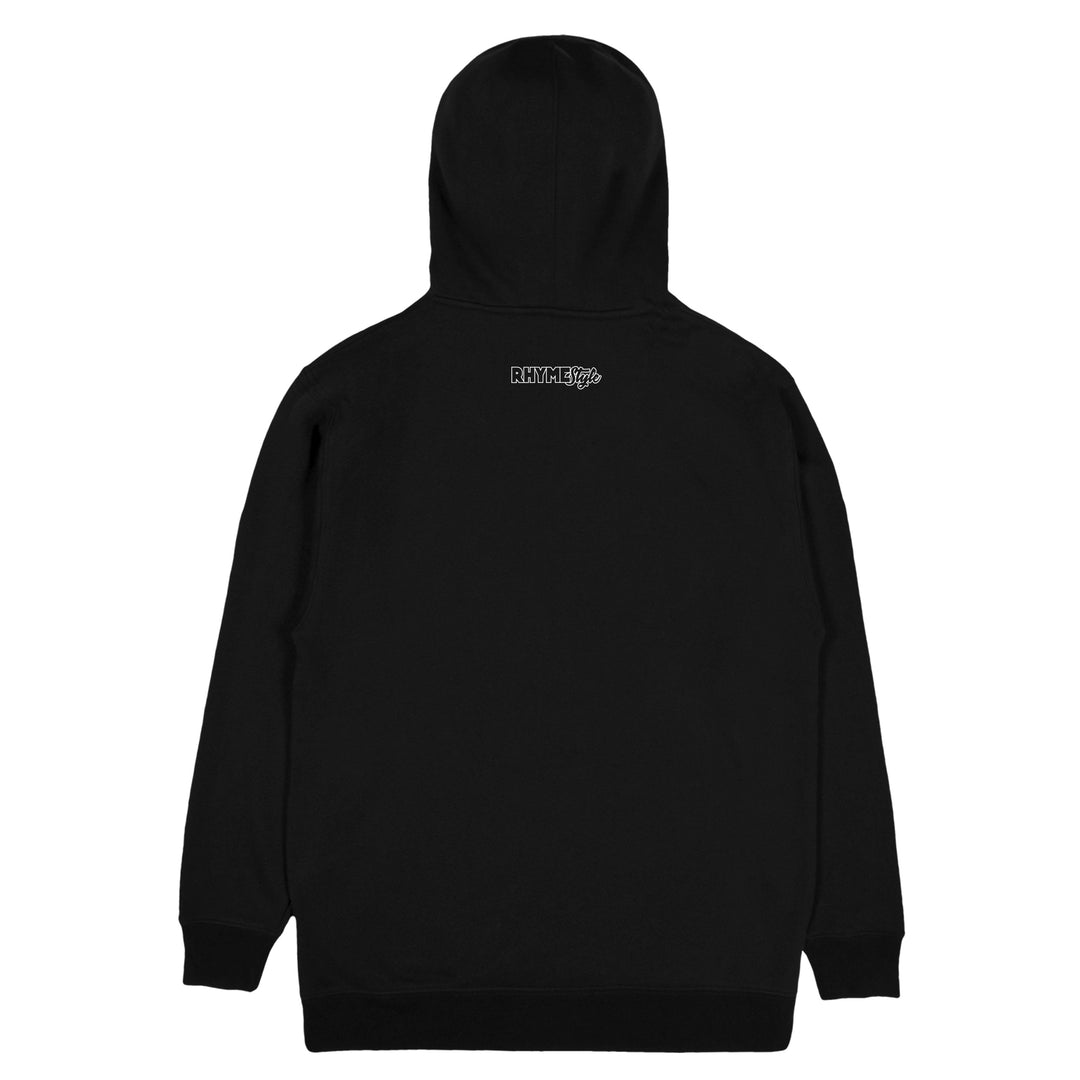 RHYMESTYLE® | SUBALUWA SILVER SHIMMER HOODIE (BLACK) LIMITED EDITION
