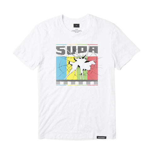 SUDA™ | CRACKED TEE (WHITE) LIMITED EDITION