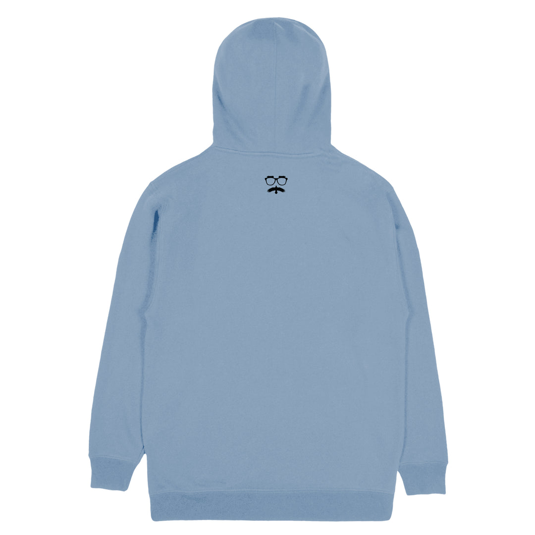 SHIPWRECKED COMEDY® | LOGO HOODIE (PIGMENT DYED LIGHT BLUE)