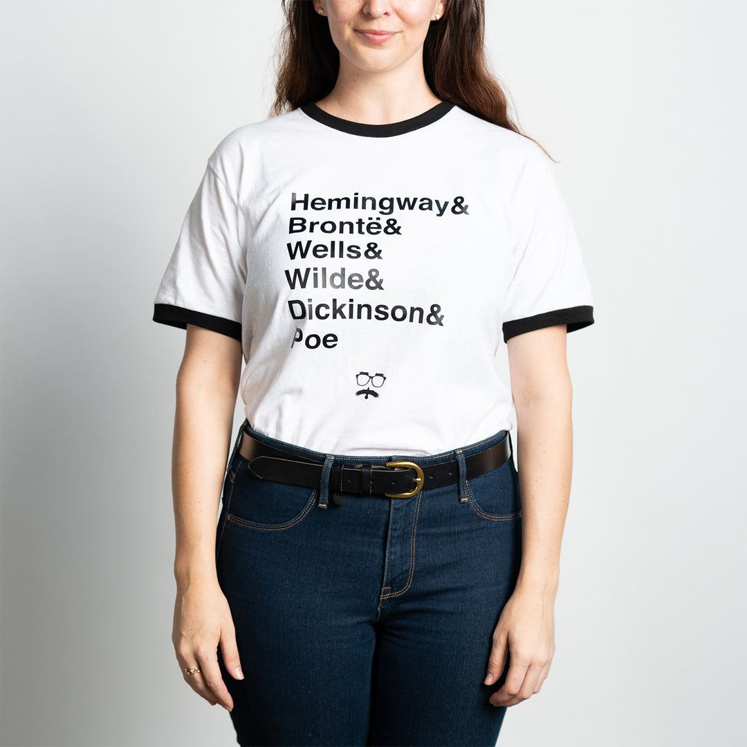 SHIPWRECKED COMEDY® | AUTHOR RINGER TEE (WHITE)