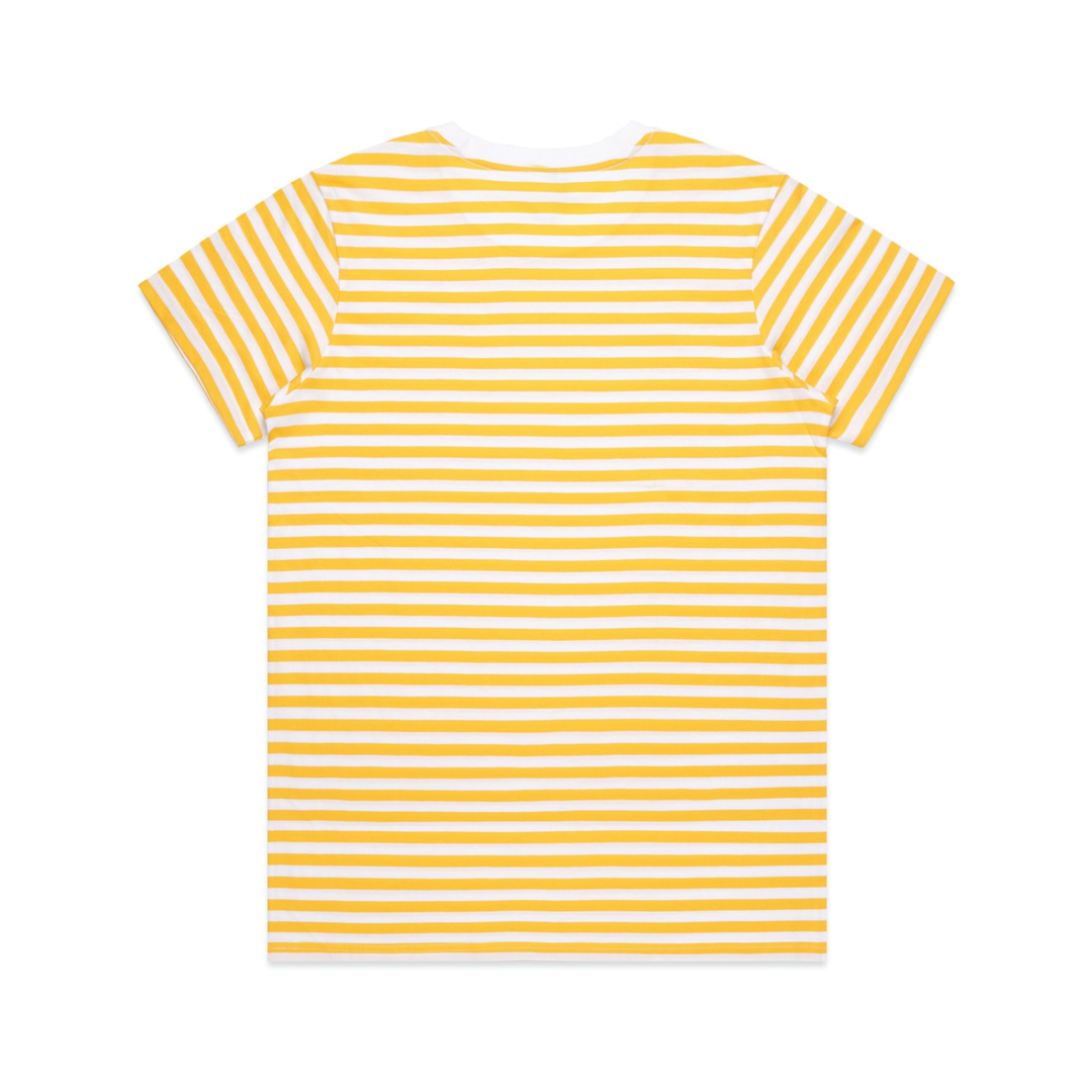 SHIPWRECKED COMEDY® | LOGO STRIPED TEE (WHITE / YELLOW)