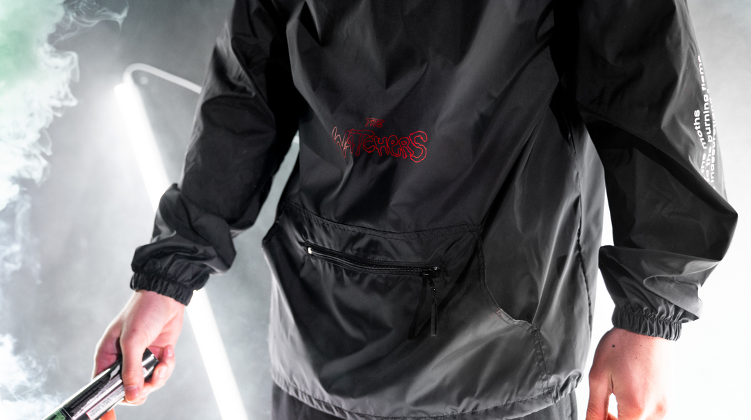 "LT.ARMY™ | THE WATCHERS ""MOTH TO THE FLAME"" ANORAK WINDBREAKER (BLACK) LIMITED EDITION"