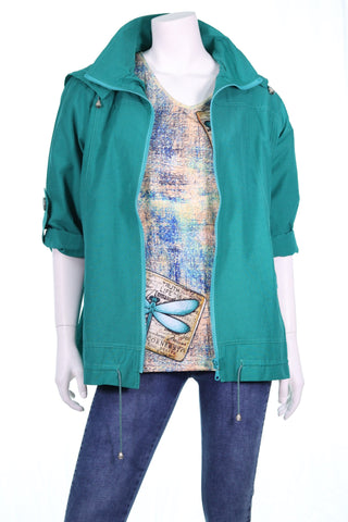 Removable Hood Zip Jacket - Aurora Boutique Online