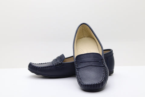 FAST STEP 257 Top Stitch Plain Moccasin Shoes - Aurora Boutique South Africa