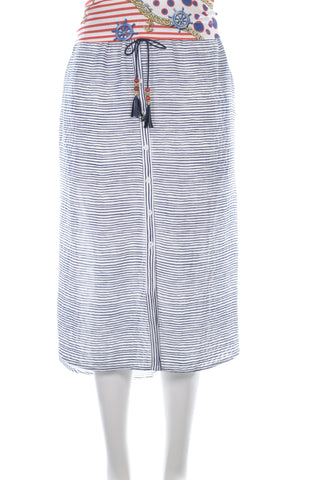Button Detail Striped Skirt - Aurora Boutique South Africa