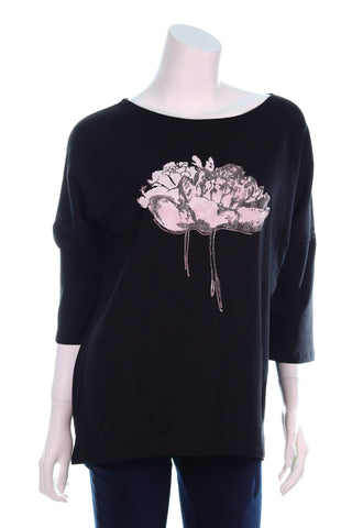 Two Big Pink Roses Top - Aurora Boutique Online