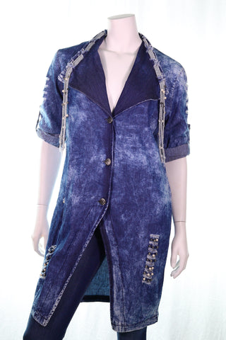 Beads Neck Jacket - Aurora Boutique Online