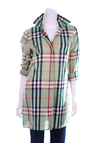 Checkered Stripes Button Shirt - Aurora Boutique Online