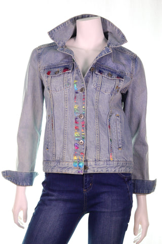 Splash Denim Jacket - Aurora Boutique Online