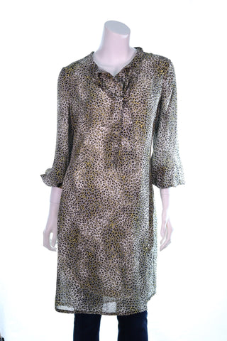 Animal Print Dress with Insert - Aurora Boutique Online