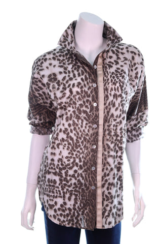Collar Animal Print Shirt - Aurora Boutique Online
